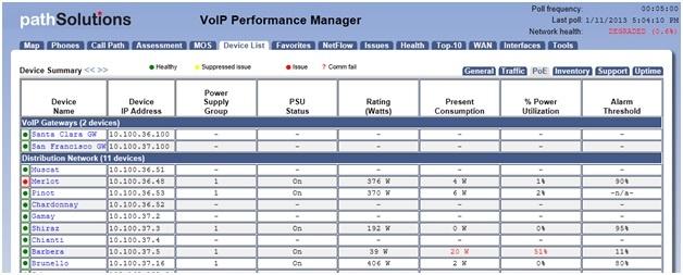 screenshot of PoE report