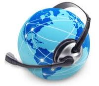 phone headset globe