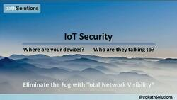 PathSolutions Recorded Webinar - Cisco Live 2019 IoT Security