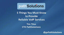 webinar 5 things  reliable VoIP services