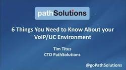 webinar 6 Things VoIP UC Environment