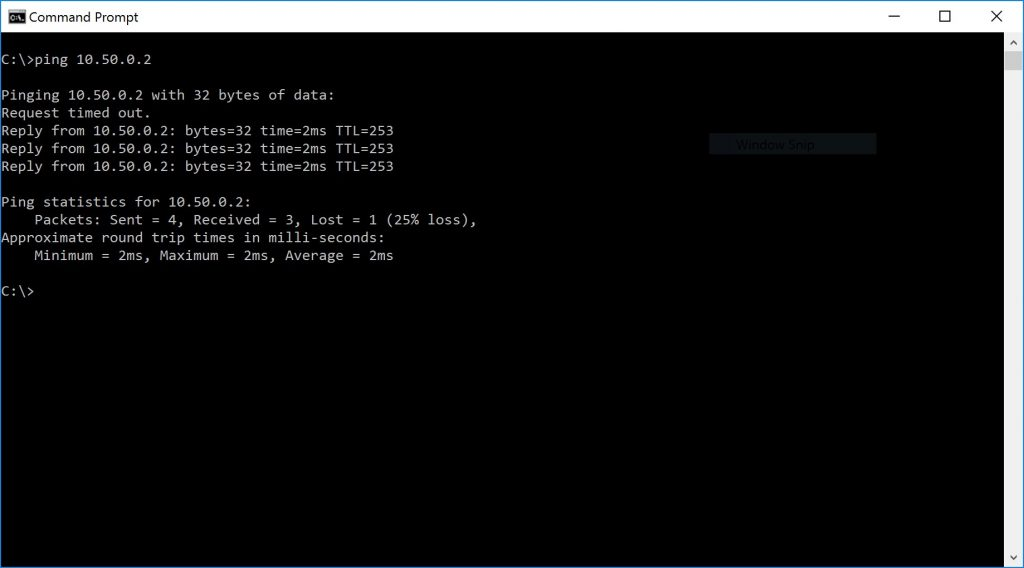 monitor with ping statistics
