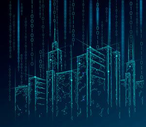 art IoT Matrix of  buildings
