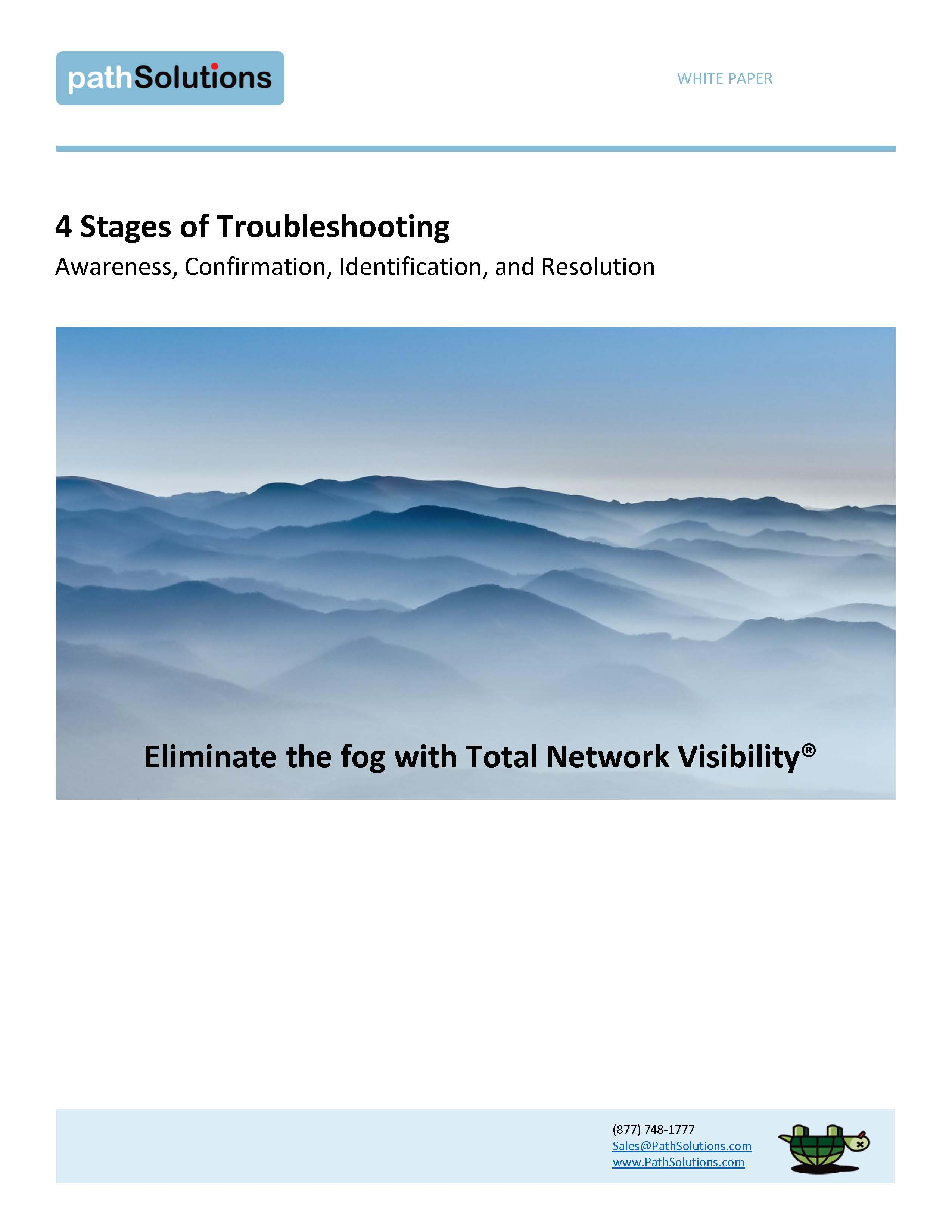 4 Stages of Troubleshooting, white paper p1