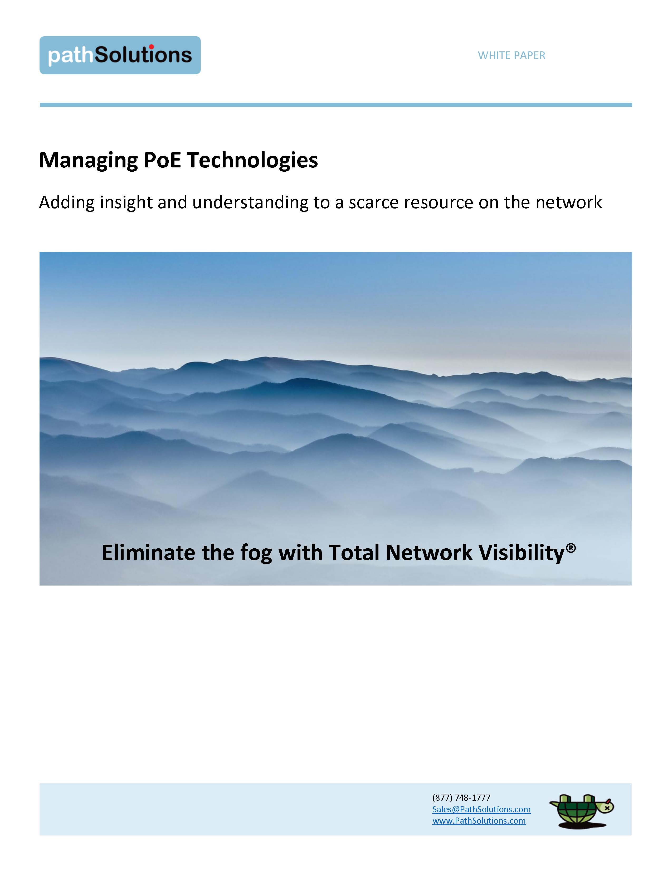 whitepaper managing PoE technologies, cover