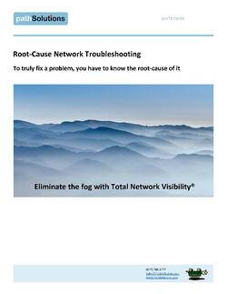 whitepaper root cause network troubleshooting, cover