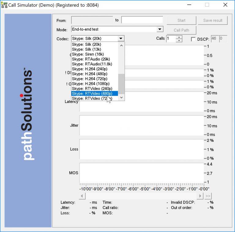 New Call Simulator Codecs