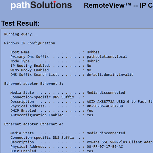 RemoteView IP Configuration