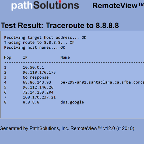 RemoteView Traceroute